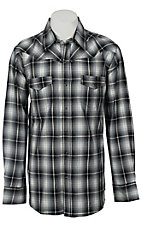 Ely 1878® Men's Blue & White Plaid Western Shirt