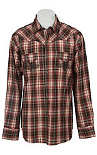Ely 1878® Men's Red, Brown & Cream Plaid Western Shirt