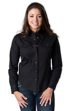 Cumberland Outfitters® Women's Black with Rhinestones Long Sleeve Western Shirt