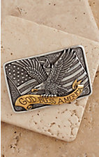 M&F Western Products® Two-toned Square Eagle Buckle