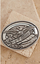 Nocona® Silver Eagle with American Flag Oval Buckle 37034