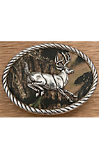 M&F Western Products® Camouflage Leaping Buck Oval Buckle