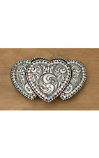 M&F Western Products® Triple Heart Buckle with Rhinestones