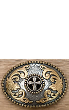 M&F Western Products ® Antique Silver & Gold Cross Buckle