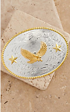 M&F Western Products® Silver Buckle with Gold Soaring Eagle