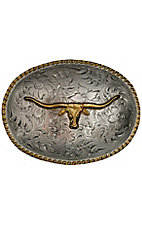 M&F Western Products® Oval Longhorn Two Tone Buckle