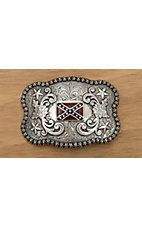 M&F Western Products® Silver Scalloped Rebel Flag
