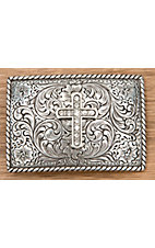 M&F Western Products® Cross Buckle in Clear Rhinestones