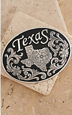 M&F Western Products® Texas Black Inlay Oval Buckle