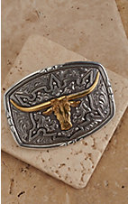 M&F Western Products® Rectangular Buckle with Gold Steer