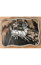 M&F Western Products® Camouflage Leaping Buck Rectangle Buckle