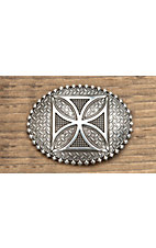 M&F Western Products® Silver w/ Celtic Cross Oval Buckle