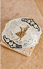 Montana Silversmiths® Large Scallop Oval Bullrider Buckle