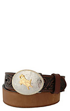 3-D® Bay Apache Tooled Billets with Bullrider Buckle