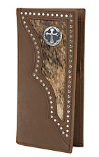 3-D® Brown Hair on Calf Wallet / Checkbook Cover 3DW943