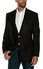 Crown Clothing Black Microfiber Jacket- Big & Tall Sizes