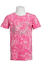 Cowgirl Hardware® Girls Vintage Pink with Crystal Horse S/S Tee