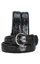 Cavender's® Men's Black Cherry Full Quill Ostrich Belt