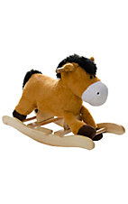 M&F Western Products® Brown Plush Rocking Horse
