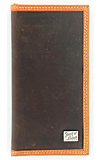Tony Lama® Solid Brown Mens Rodeo Wallet/Checkbook Cover