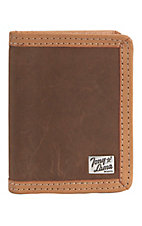 Tony Lama® Brown Distressed Leather Bi-fold Wallet 5151344