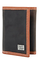 Tony Lama® Chocolate Brown Distressed Leather Tri-fold Wallet 5151444