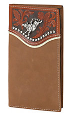Tony Lama® Brown Bi-Fold Rodeo Wallet/Checkbook Cover 5151844
