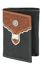 Tony Lama® Brown Floral Tooled Tri-fold Wallet 5154601