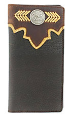 Tony Lama® Brown Two Tone Wallet w/ Emblem