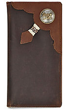 Tony Lama® Two-Tone Brown Mens Rodeo Wallet/Checkbook Cover