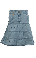 Cumberland Outfitters® Girl's 3-Tiered Denim Skirt