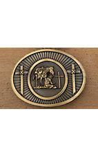 AndWest® Brass Cowboy Prayer Oval Buckle