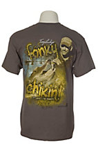 Swamp People Men's Charcoal Troy Landry's Fonky Chikin T-Shirt