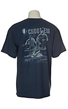 Swamp People Men's Blue Troy Landry's Choot 'Em Wranglers T-Shirt
