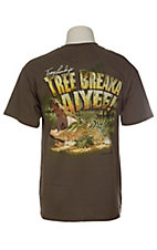 Swamp People Men's Dark Olive Troy Landry's Tree Breaka Aiyee! T-Shirt