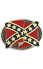 Montana Silversmiths® Confederate Flag Two-toned Buckle