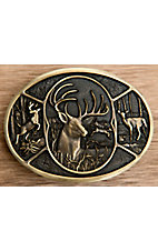 Montana Silversmiths® Whitetailed Deer Oval Buckle