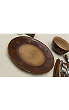 M&F Western Products® Silverado Brown and Tan 4 Piece Dinner Plates