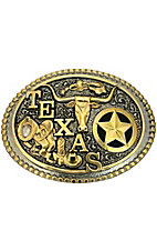 Montana Silversmiths® Attitude Buckle Antique Gold & Silver Texas Buckle