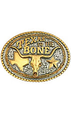 "Montana Silversmiths® ""Texas to the Bone"" Two-toned Oval Buckle"