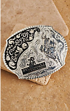 Montana Silversmiths® Silver Bull Riders Only Scalloped Buckle