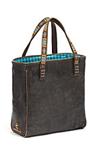 Consuela® Marfa Navajo Black-Brown Distressed Leather Classic Tote