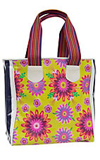 Consuela Chartreuse Floral Classic Tote