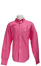 Cinch L/S Boy's Solid Fine Weave Shirt 7060026
