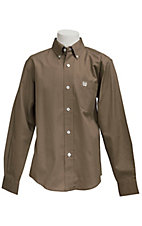 Cinch L/S Boys Solid Fine Weave Shirt 7060030