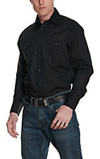 Wrangler® Long Sleeve Black Western Shirt 71105BK2