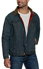 Wrangler Red Blanket Lined Denim Jacket