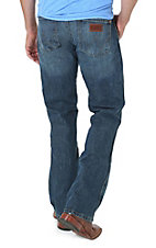 Wrangler Mens Premium Patch River Wash Slim Fit Jeans