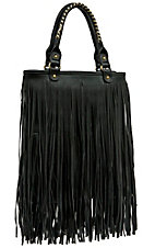 nuG Black Long Fringe Handbag