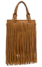 nuG Camel Brown Long Fringe Handbag